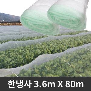 한냉사 3.6m X 80m 벌레 해충퇴치 텃밭 터널 방충망