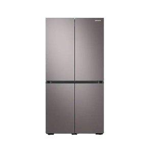 삼성 비스포크 4도어 양문형 냉장고 Brownish Silver 871L RF85T9131T1