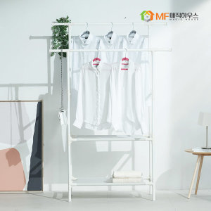MF 모듈랙 드레스룸 2단 선반형행거 이동식 옷장