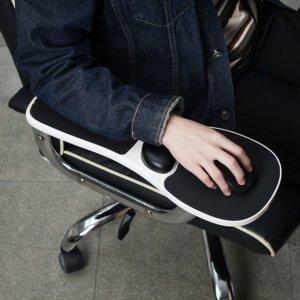 오피스 마우스 패드(화이트) 마우스받침대 컴퓨터마우