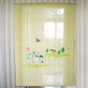 튤립 자동 문발 90x175cm /햇빛가리개 현관문발 커튼