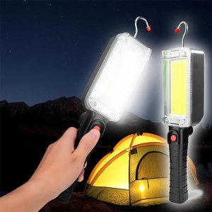 LED 접이식 멀티 랜턴 작업등 손전등 광폭 COB KS525