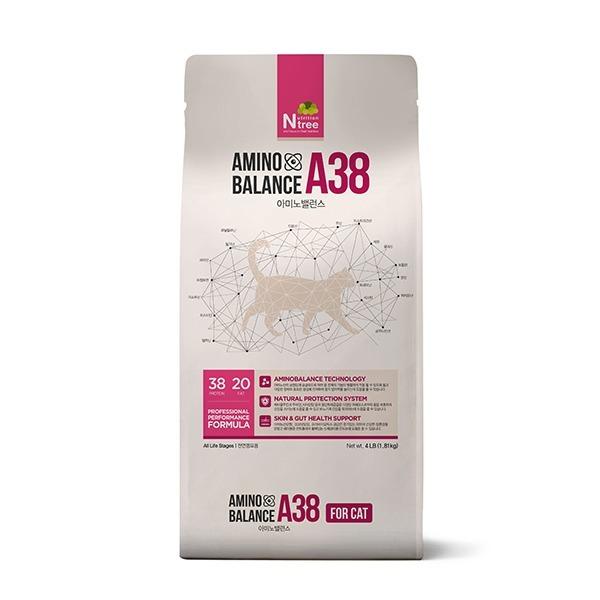 아미노밸런스 A38 고양이사료 1.8kg 항산화 전연령용