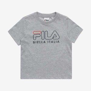 (현대Hmall) 휠라키즈  Heritage 프린트 로고 반팔 티셔츠 (FK2RSA2663M_LML)