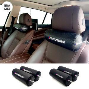BMW M 카본 원형 목쿠션 1+1 메모리폼 경추보호 00182