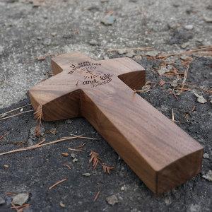 요셉 십자가 수제 원목십자가 탁상십자가