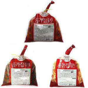 종가집 김치 3종 (총각1kg+열무1kg+소백1kg)