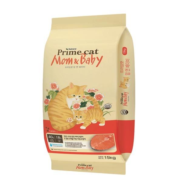 프라임캣 맘 앤 베이비15kg 어미/아기고양이 전용사료