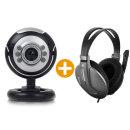 칼론 화상캠 웹캠 화상카메라 PC캠 노트북 +헤드셋