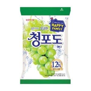 롯데)청포도봉지캔디153g