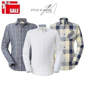 엠필  사계절 내내 입는 남자 캐쥬얼 셔츠 8종택1