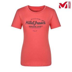 하프클럽/밀레 여성 프린팅 라운드 반팔 티셔츠 MMLUT703CR