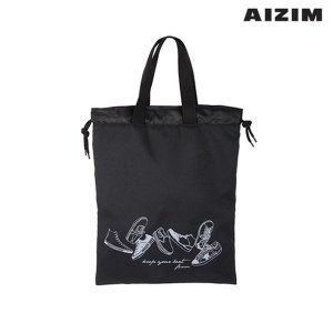 AIZIM 학생 신발주머니 보조가방 실내화백 ASK009KBK