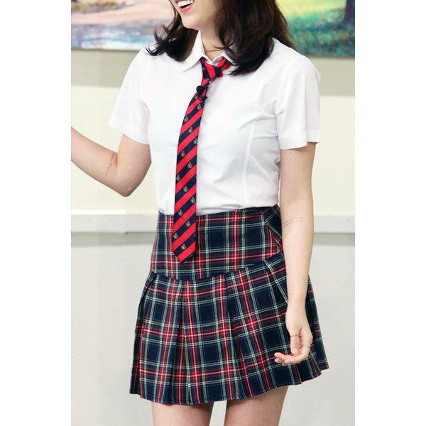 네이비체크 여름교복/여성용 여름교복/예쁜 여름하복