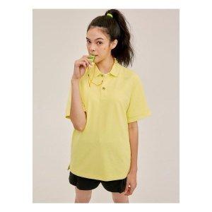 빈폴스포츠 Unisex 레몬 솔리드 라벨링 피케 티셔츠 (BO0342S61F)