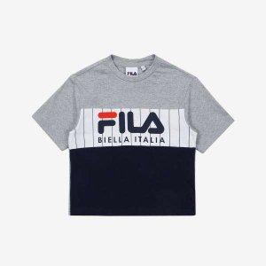 (현대Hmall) 휠라키즈  헤리티지 블럭형 반팔 티셔츠 (FK2RSA2667X_LML)