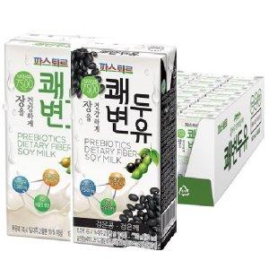 파스퇴르 쾌변두유190ml(96팩)플레인/검은콩