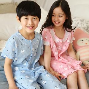 여름아동잠옷/인견//유아어린이초등/실내복/남아여아