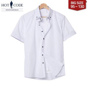 여름 남자 반팔 이중카라 셔츠 빅사이즈 행사 HC268