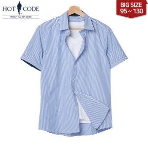 여름 남자 반팔 스트라이프 셔츠 빅사이즈 행사 HC252