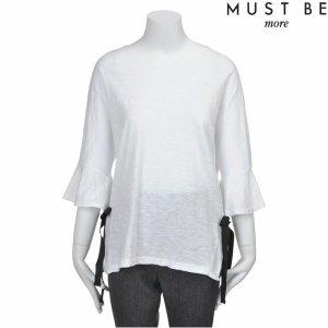 머스트비  Y 리본장식 7부소매 티셔츠 FMKFCTA509M_WHA
