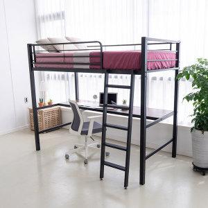 라피네 철제 벙커침대 프레임+토퍼1개+책상/철제침대