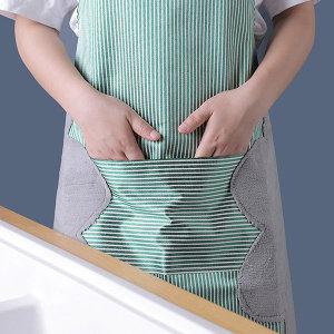 아이디어 손닦는 방수 앞치마 업소용 식당