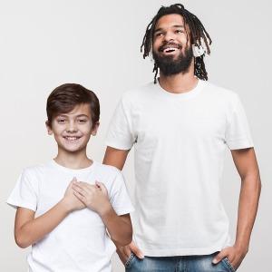 남자 유아 아동 면 티셔츠 여름티 반팔라운드