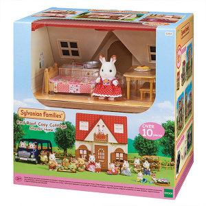 실바니안 패밀리 5303-초콜릿 토끼의 빨간지붕 이층집