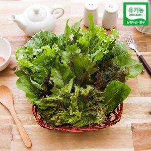 자연맛남  유기농 모듬쌈 8종 500g