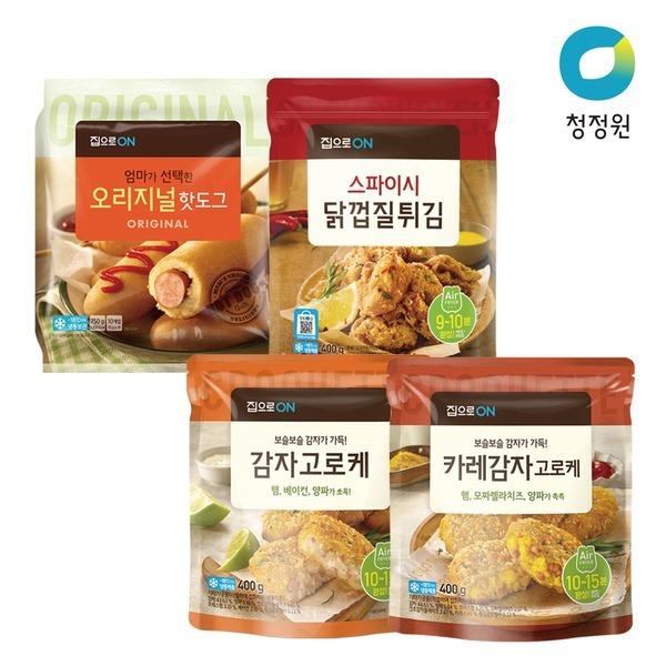 집으로ON 핫도그/고로케/닭껍질튀김 골라담기