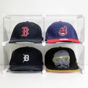 엠블럭4칸형(앞/뒤덮개별도)야구모자수납장 모자보관