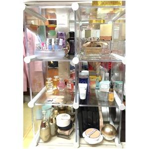 엠블럭4칸형(앞/뒤덮개별도)향수진열장 화장품수납장