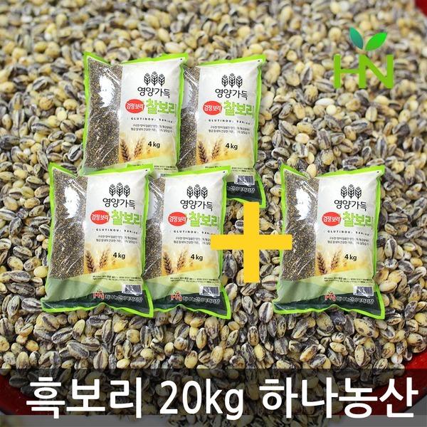 AQ 흑보리 20kg - 검은보리 반값행사 (김제하나농산)