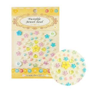 진즈 꽃 비즈 노랑 스티커 만들기재료 폰꾸미기
