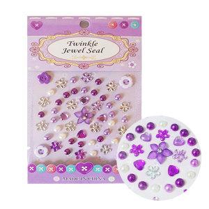 진즈 꽃 비즈 보라 스티커 만들기재료 폰꾸미기