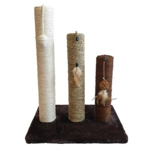 트리플 고양이 스크래쳐 기둥형 3in1/장난감 캣타워