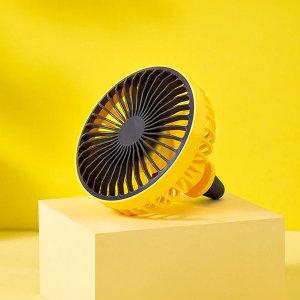 LED 조명 차량용 선풍기 USB 형식 옐로우 송풍구형