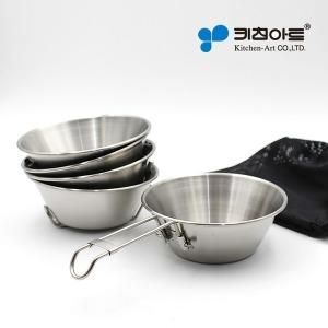 캠핑용품 (스텐27종) 손잡이 시에라 컵 식기 겸용 5p
