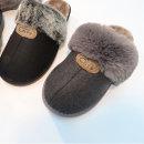 신발 캣츠 통굽 퍼슬리퍼 겨울사무실 실내화3.5cm