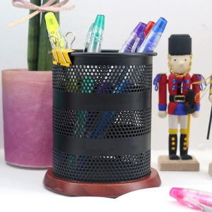 블랙우든 펜꽂이 연필꽂이 펜정리 사무용품정리