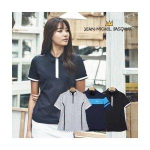 장미쉘바스키아  기능성 여성 반팔 티셔츠 3종(JMB17SS06W6BL)