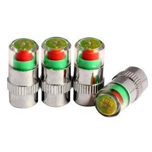 자동차 타이어 공기압 측정기4p-압력 게이지 밸브캡