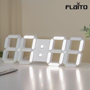 국산 플라이토 프리즘 3D LED 벽시계 LG전구 38cm