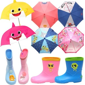 캐릭터 아동우산 유아 주니어 장우산 장화 자동우산