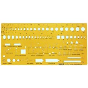코링 토목건설용 K-701 템플렛 모형자 모양자