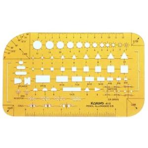 코링 전기정규 K-415 템플렛 템플릿 모형자 모양자