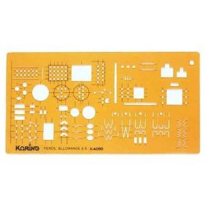 코링 Electronic Symbols K-4050 템플 모형자 모양자