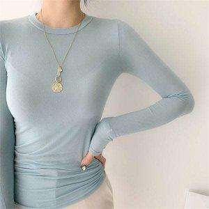 (현대Hmall) 하프클럽/라뮤엣 시스루 긴팔 쫄 슬림 티셔츠