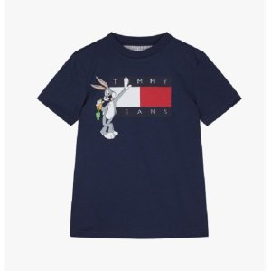 코튼 루니튠즈 그래픽 반소매 티셔츠(T42A1KKO093BT1)